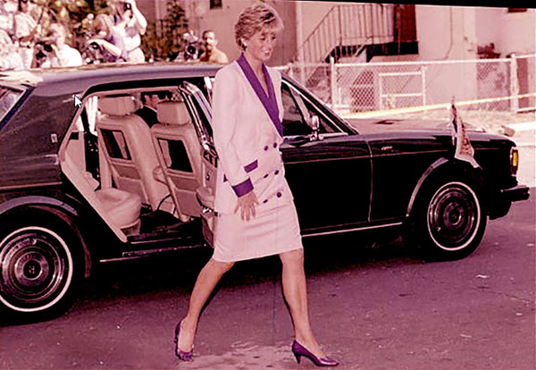 Rolls Royce Silver Spur with Princess Diana